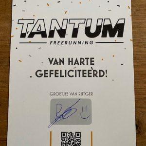 Verjaardagskaart Tantum Freerunning